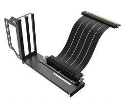 Akasa Riser Black Pro Vertical GPU Holder with Premium PCIe 3.0 Cable