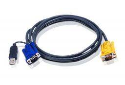 ATEN USB KVM Cable with 3 in 1 SPHD and built-in PS/2 to USB converter 1,8m