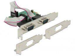 DeLock PCI Express Card > 2x Serial RS-232 high speed 921K with voltage supply