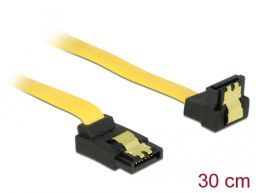 DeLock SATA 6Gb/s Cable upwards angled to downwards angled 30cm Yellow