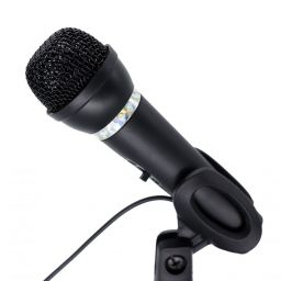 Gembird MIC-D-04 condenser microphone with desk-stand Black
