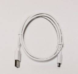 Hama microUSB cable 1m White