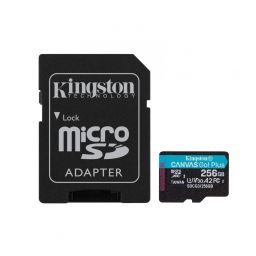 Kingston 256GB microSDXC Canvas Go! Plus 170R A2 U3 V30 Card + adapterrel
