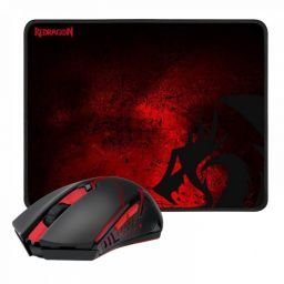 Redragon M601WL-BA Wireless Gaming Mouse and Mouse Pad Combo Black/Red