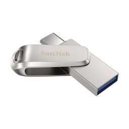 Sandisk 64GB Dual Drive Luxe USB3.1 Type-C Silver