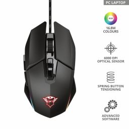 Trust GXT 950 Idon Illuminated Gaming mouse Black