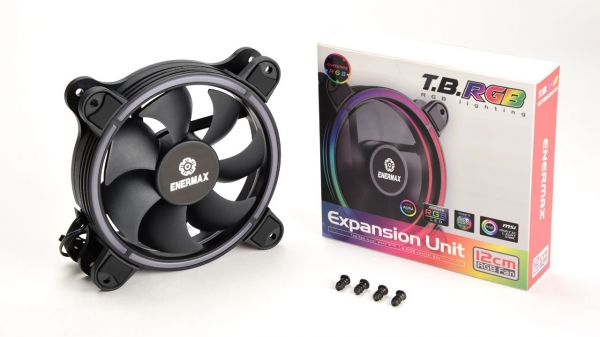 Enermax Intros T.B. RGB Fans with Exclusive 4-ring RGB Visual Effects (1 pack)