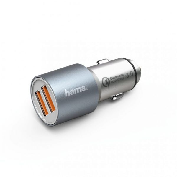 Hama Qualcomm Quick Charge 3.0 Car Charger 2xUSB Metal