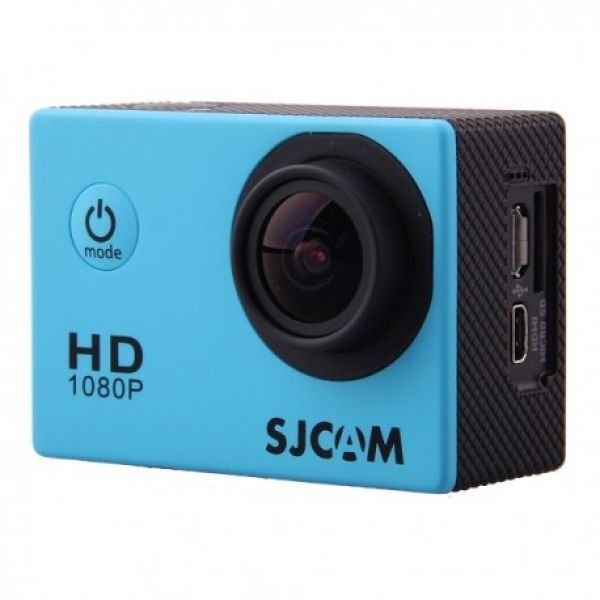 SJCAM SJ4000 Sportkamera Blue Waterproof Case